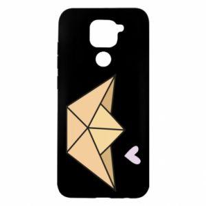 Etui na Xiaomi Redmi Note 9/Redmi 10X Paper boat with a heart