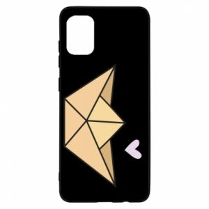 Etui na Samsung A31 Paper boat with a heart