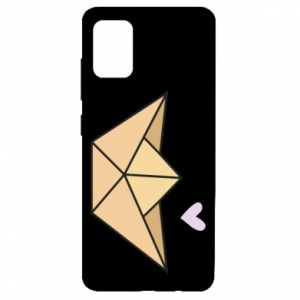 Etui na Samsung A51 Paper boat with a heart