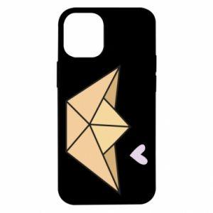 Etui na iPhone 12 Mini Paper boat with a heart