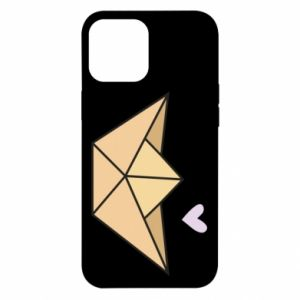 Etui na iPhone 12 Pro Max Paper boat with a heart