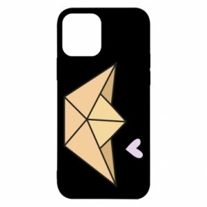 Etui na iPhone 12/12 Pro Paper boat with a heart