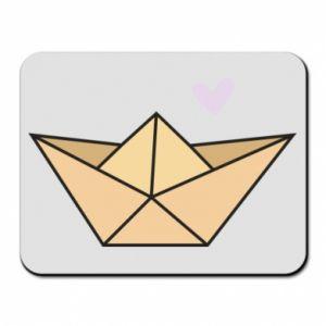 Podkładka pod mysz Paper boat with a heart