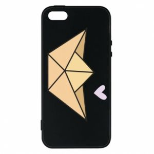 Etui na iPhone 5/5S/SE Paper boat with a heart