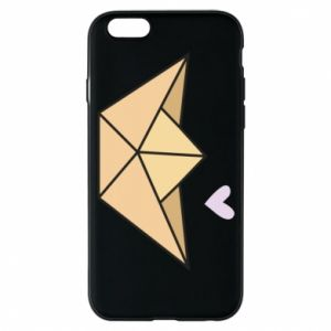 Etui na iPhone 6/6S Paper boat with a heart
