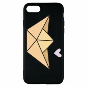 Etui na iPhone 8 Paper boat with a heart