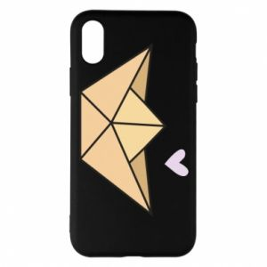 Etui na iPhone X/Xs Paper boat with a heart