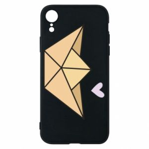 Etui na iPhone XR Paper boat with a heart