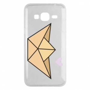 Etui na Samsung J3 2016 Paper boat with a heart