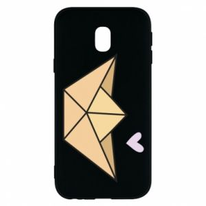 Etui na Samsung J3 2017 Paper boat with a heart