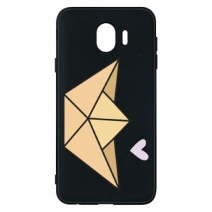 Etui na Samsung J4 Paper boat with a heart