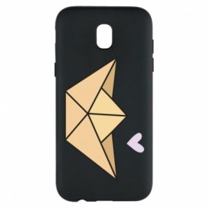 Etui na Samsung J5 2017 Paper boat with a heart