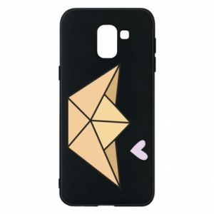 Etui na Samsung J6 Paper boat with a heart