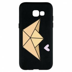 Etui na Samsung A5 2017 Paper boat with a heart
