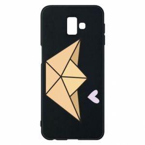 Etui na Samsung J6 Plus 2018 Paper boat with a heart