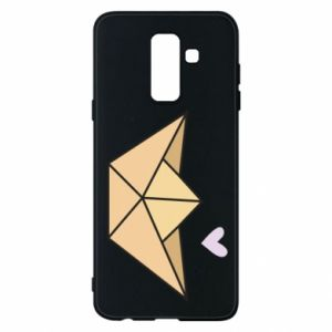 Etui na Samsung A6+ 2018 Paper boat with a heart