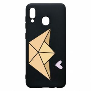 Etui na Samsung A20 Paper boat with a heart