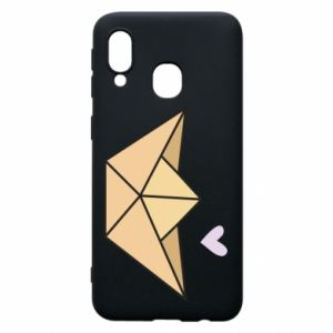 Etui na Samsung A40 Paper boat with a heart