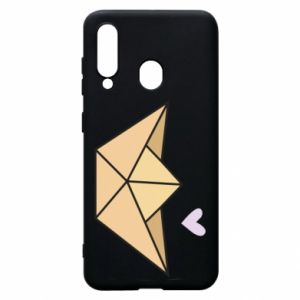 Etui na Samsung A60 Paper boat with a heart