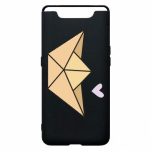 Etui na Samsung A80 Paper boat with a heart
