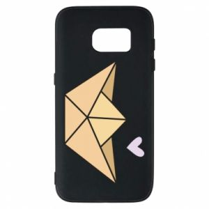 Etui na Samsung S7 Paper boat with a heart