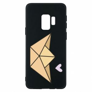 Etui na Samsung S9 Paper boat with a heart