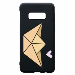 Etui na Samsung S10e Paper boat with a heart