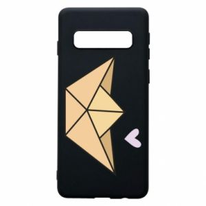 Etui na Samsung S10 Paper boat with a heart