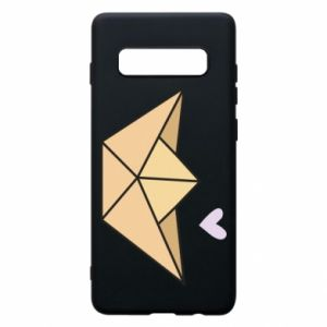 Etui na Samsung S10+ Paper boat with a heart