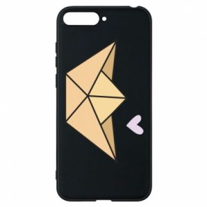 Etui na Huawei Y6 2018 Paper boat with a heart