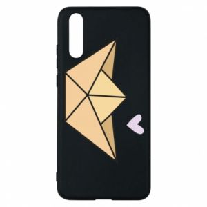 Etui na Huawei P20 Paper boat with a heart