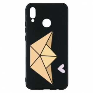 Etui na Huawei P20 Lite Paper boat with a heart