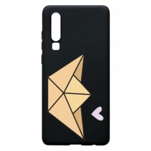 Etui na Huawei P30 Paper boat with a heart