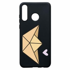 Etui na Huawei P30 Lite Paper boat with a heart