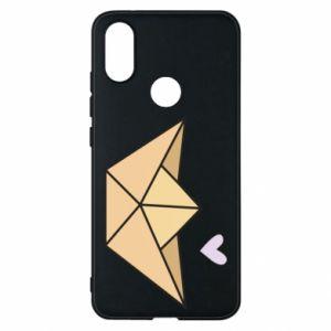 Etui na Xiaomi Mi A2 Paper boat with a heart