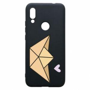 Etui na Xiaomi Redmi 7 Paper boat with a heart