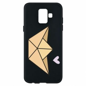 Etui na Samsung A6 2018 Paper boat with a heart