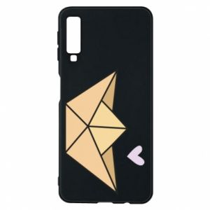 Etui na Samsung A7 2018 Paper boat with a heart