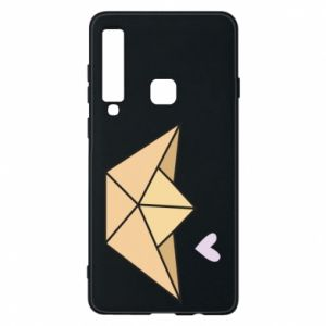 Etui na Samsung A9 2018 Paper boat with a heart