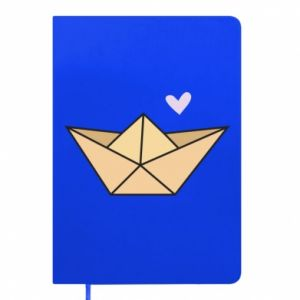 Notes Paper boat with a heart