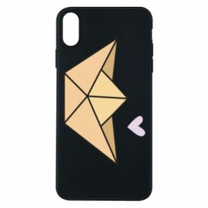 Etui na iPhone Xs Max Paper boat with a heart