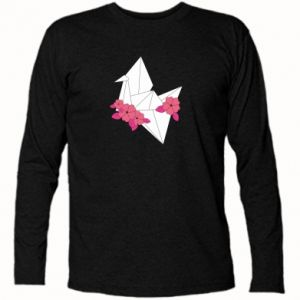 Long Sleeve T-shirt Paper Crane - PrintSalon