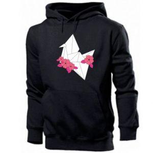 Men's hoodie Paper Crane - PrintSalon