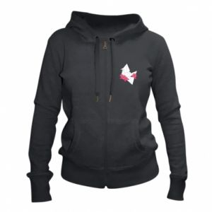 Women's zip up hoodies Paper Crane - PrintSalon