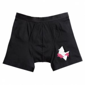 Boxer trunks Paper Crane - PrintSalon