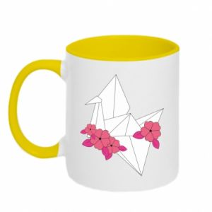 Two-toned mug Paper Crane - PrintSalon