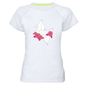 Women's sports t-shirt Paper Crane - PrintSalon
