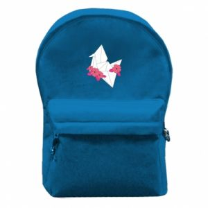 Backpack with front pocket Paper Crane - PrintSalon