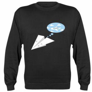 Sweatshirt Paper plane dreams of flying - PrintSalon