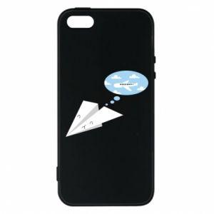 Phone case for iPhone 5/5S/SE Paper plane dreams of flying - PrintSalon